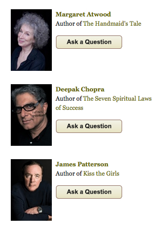 Ask a Questiof of Authors