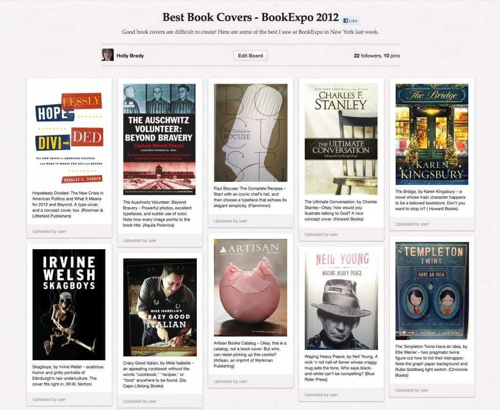Best Book Covers from BookExpo 2012